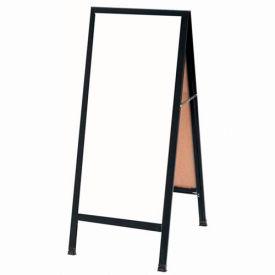 """Aarco Aluminum Black Powder Coated A-Frame Sidewalk White Maker Board - 18""""W x 42""""H"""