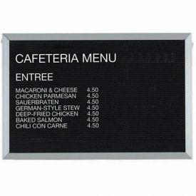 "Aarco Aluminum Framed Letter Board Message Center - 36""W x 24""H"