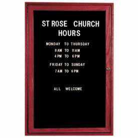 """Aarco 1 Door Cherry Enclosed Changeable Letter Board 24""""W x 36""""H by"""
