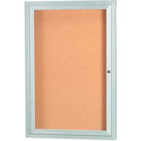 "Aarco 1 Door Framed Illuminated Enclosed Bulletin Board - 18""W x 24""H"