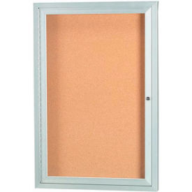 "Aarco 1 Door Framed Illuminated Enclosed Bulletin Board - 24""W x 36""H"