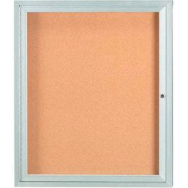 "Aarco 1 Door Framed Enclosed Bulletin Board - 30""W x 36""H"