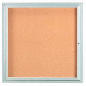 """Aarco 1 Door Framed Enclosed Bulletin Board 36""""W x 36""""H by"""