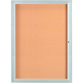 "Aarco 1 Door Framed Illuminated Enclosed Bulletin Board 36""W x 48""H by"