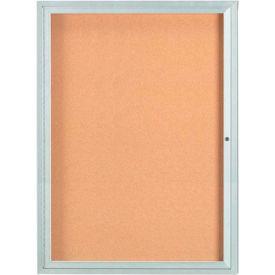 "Aarco 1 Door Framed Illuminated Enclosed Bulletin Board - 36""W x 48""H"