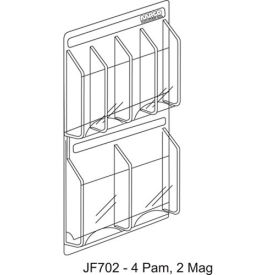 """Clear-Vu Combination Pamphlet/Magazine Display - 21""""W x 23""""H"""