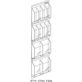 """Clear-Vu Combination Pamphlet/Magazine Display - 21""""W x 45""""H"""