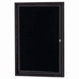 """Aarco 1 Door Enclosed Letter Board Cabinet Black Powder Coated 24""""W x 36""""H by"""