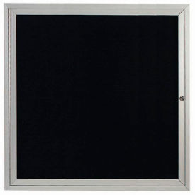 "Aarco 1 Door Enclosed Letter Board Cabinet, Illuminated - 36""W x 36""H"