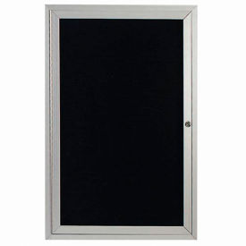 "Aarco 1 Door Enclosed Letter Board Cabinet - 36""W x 48""H"