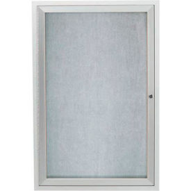 "Aarco 1 Door Aluminum Framed Enclosed Bulletin Board - 18""W x 24""H"