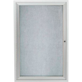 "Aarco 1 Door Aluminum Framed Enclosed Bulletin Board 24""W x 36""H by"