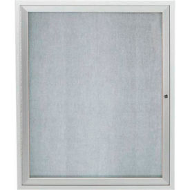 "Aarco 1 Door Aluminum Framed Enclosed Bulletin Board - 30""W x 36""H"