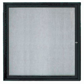 "Aarco 1 Door Aluminum Framed Enclosed Bulletin Board Black Powder Coat - 36""W x 36""H"