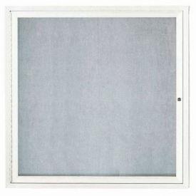 "Aarco 1 Door Aluminum Framed Enclosed Bulletin Board White Powder Coat - 36""W x 36""H"