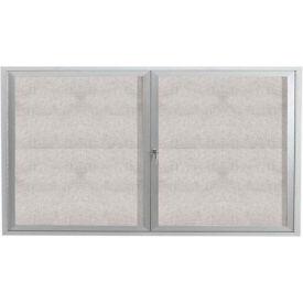 "Aarco 2 Door Aluminum Framed Enclosed Bulletin Board - 60""W x 36""H"