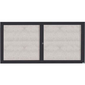 "Aarco 2 Door Aluminum Framed Enclosed Bulletin Board Bronze Anod. - 72""W x 36""H"