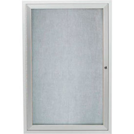 "Aarco 1 Door Aluminum Framed Enclosed Bulletin Board 36""W x 48""H by"