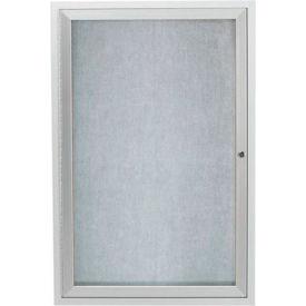 "Aarco 1 Door Aluminum Framed Enclosed Bulletin Board - 36""W x 48""H"