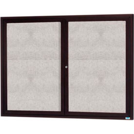 "Aarco 2 Door Aluminum Framed Enclosed Bulletin Board Bronze Anod. - 60""W x 48""H"
