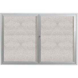 "Aarco 2 Door Aluminum Framed Enclosed Bulletin Board - 72""W x 48""H"