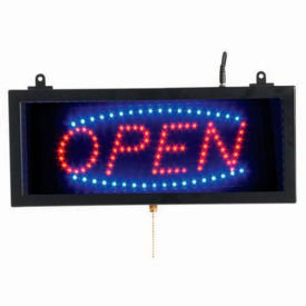 "Aarco Small LED Sign Open - 16-1/8""W x 6-3/4""H"