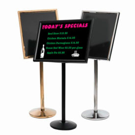 """Aarco Small Dual Capability Neon Mb And Menu/Poster Holder Black - 24""""W x 20""""H"""