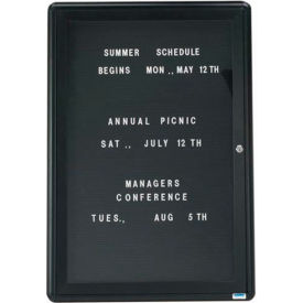 """Aarco 1 Door Design Enclosed Letter Board Graphite 24""""W x 36""""H by"""