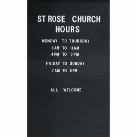 """Aarco Removable Vinyl Letter Board For Illuminated Unit - 36""""W x 48""""H"""