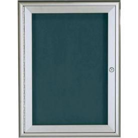 """Aarco 1 Door Water Fall Style Letter Board Silver - 24""""W x 36""""H"""