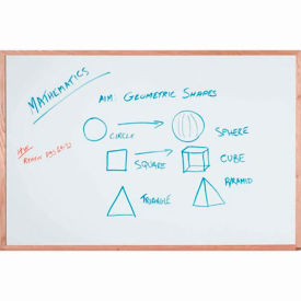 """Aarco Display Style White Marker Board - 18""""W x 12""""H"""