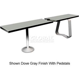"12"" x 48"" Phenolic Locker Bench Top Graphite Grafix"