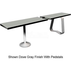 "9-1/2"" x 84"" Phenolic Locker Bench Top Silver Gray"