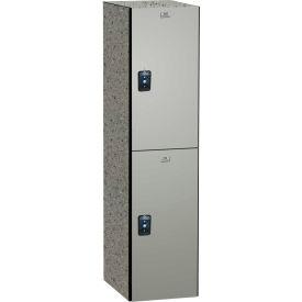 ASI Storage Traditional Phenolic Locker 11-821515720 - Double Tier 15 x 15 x 72 1-Wide Silver Gray