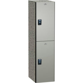 ASI Storage Traditional Phenolic Locker 11-821518720 - Double Tier 15 x 18 x 72 1-Wide Silver Gray