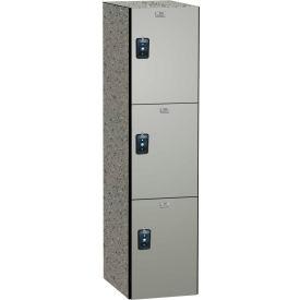 ASI Storage Traditional Phenolic Locker 11-831215720 - Triple Tier 12 x 15 x 72 1-Wide Dove Gray