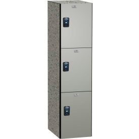 ASI Storage Traditional Phenolic Locker 11-831515720 - Triple Tier 15 x 15 x 72 1-Wide Silver Gray