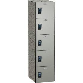 ASI Storage Traditional Phenolic Locker 11-851215600 - Five Tier 12 x 15 x 60 1-Wide Silver Gray