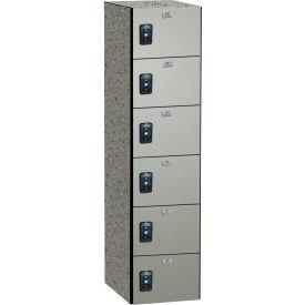 ASI Storage Traditional Phenolic Locker 11-861215720 - Six Tier 13 x 12 x 72 1-Wide Neutral Glace