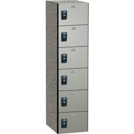 ASI Storage Traditional Phenolic Locker 11-861515720 - Six Tier 15 x 12 x 72 1-Wide Neutral Glace