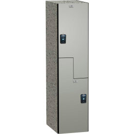 ASI Storage Traditional Phenolic Locker 11-8Z1515720 3000 - Z Style 15 x 15 x 72 1-Wide Silver Gray