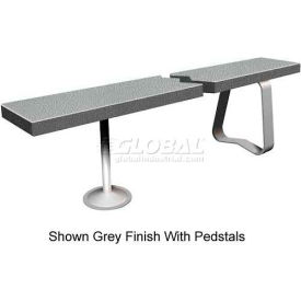 "12"" x 36"" Solid Plastic Locker Bench Top Charcoal"