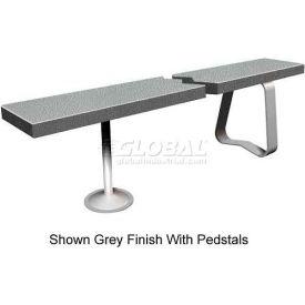 "12"" x 36"" Solid Plastic Locker Bench Top Folkstone Gray"