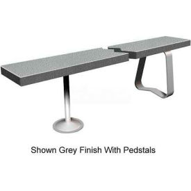 "24"" x 72"" Solid Plastic Locker Bench Top Charcoal"
