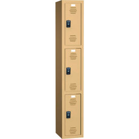 ASI Storage Traditional Plus Plastic Locker 11-931818721 - Triple Tier 18x18x72 1-Wide Stone Gray