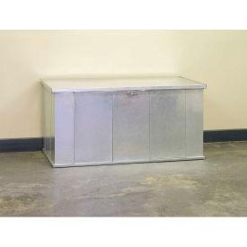 "Arrow Shed Storboss Storage Chest and Deck Box, 30""L x 57-5/8""W x 27-5/8""H, Galvanized"