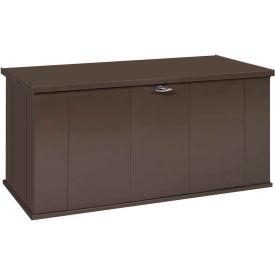"Arrow Shed Storboss Storage Chest and Deck Box, 30""L x 57-5/8""W x 27-5/8""H, Chocolate"