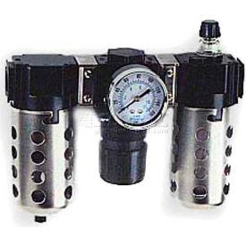 """Arrow 1/2"""" Modular FRL W/O End Ports D33454W, Gauge, Metal Bowl W/Sight, Manual & Ultra Fog LUBR"""