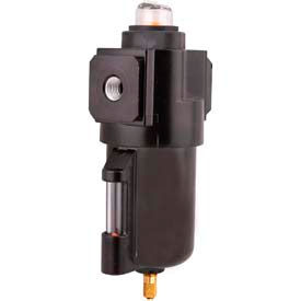 "Arrow Intermediate Coalescing Filter With Float Drain F532FW, Zinc Bowl, 1/4"" NPT, 175 PSI"