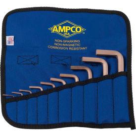 AMPCO M-42M 10 Piece Non-Sparking Hex Key Kit, Metric